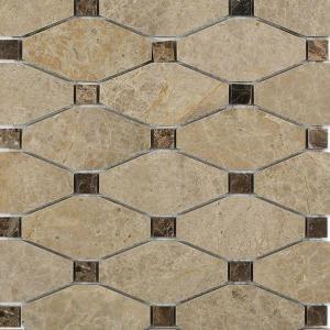 Splashback Tile Diapson Light Emperador with Dark Emperador Dot Polished Marble Tile - 3 in. x 6 in. Tile Sample-L3A9DIAEMP 206823042