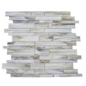 Splashback Tile Matchstix Halo 10 in. x 11 in. x 8 mm Glass Mosaic Floor and Wall Tile-MATCHSTIX HALO GLASS TILE 204289147