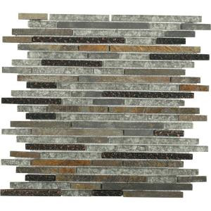Splashback Tile Paradise Utopia Glass Wall Tile - 3 in. x 6 in. Tile Sample-C2C8 PARADISE UTOPIA SAMPLE 206154521