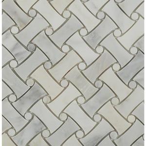 Splashback Tile Pedigree Asian Statuary Polished Marble Tile - 3 in. x 6 in. Tile Sample-C1D7PDGREORNTL 206785950