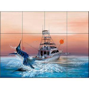 The Tile Mural Store Bill Collector 24 in. x 18 in. Ceramic Mural Wall Tile-15-437-2418-6C 205842685