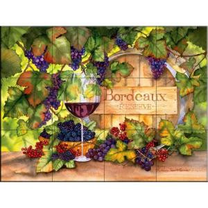 The Tile Mural Store Bordeaux 24 in. x 18 in. Ceramic Mural Wall Tile-15-1524-2418-6C 205842795