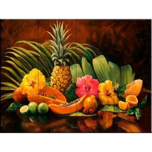 The Tile Mural Store Tropicana 24 in. x 18 in. Ceramic Mural Wall Tile-15-1062-2418-6C 205842746