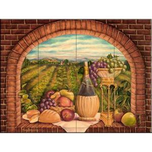 The Tile Mural Store Tuscan Wine II 17 in. x 12-3/4 in. Ceramic Mural Wall Tile-15-1691-1712-6C 205842820