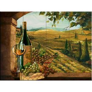 The Tile Mural Store Vineyard Window II 17 in. x 12-3/4 in. Ceramic Mural Wall Tile-15-2895-1712-6C 205842917