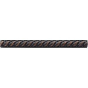 Weybridge 1/2 in. x 6 in. Cast Metal Rope Liner Dark Oil Rubbed Bronze Tile (18 pieces / case)-TILE469070003HD 203381210