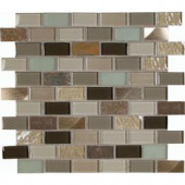 Autumn Leaves 12 in. x 12 in. x 8 mm Glass Stone Metal Mesh-Mounted Mosaic Tile-SGLSMT-ALB8MM 203447804