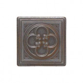 Daltile Castle Metals 2 in. x 2 in. Wrought Iron Metal Clover Insert Accent Wall Tile-CM0222DOTA1P 202044731