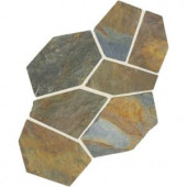 Daltile Natural Stone Collection Mongolian Spring 12 in. x 24 in. Slate Flagstone Floor and Wall Tile (13.5 sq. ft. / case)-S781PATTNFLAG1P 202646841