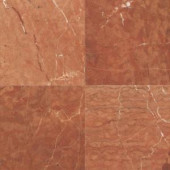 Daltile Natural Stone Collection Rojo Alicante 12 in. x 12 in. Marble Floor and Wall Tile (10 sq. ft. / case)-M72412121L 202646803