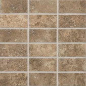 Daltile San Michele Moka Cross-Cut 12 in. x 12 in. x 8 mm Glazed Porcelain Mosaic Floor and Wall Tile-SI3224MSS1P2 203719415