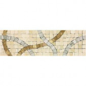 Daltile Stone Decorative Accents Confetti Parade 2-3/4 in. x 9-1/4 in. Marble Accent Wall Tile-ST65310DCOCC1U 203213480