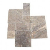 Daltile Travertine Andes Gray Paredon Pattern Floor and Wall Tile Kit (6 sq. ft / case)-TS35PATTERN1P 202646859