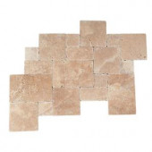 Daltile Travertine Inca Brown Blended Paredon Pattern Natural Stone Floor and Wall Tile Kit (6 sq. ft. / kit)-TS37PATTERN1P 202646861
