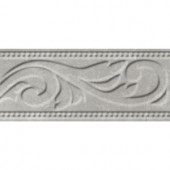 ELIANE Delray L-1 White 3 in. x 8 in. Ceramic Listello Wall Tile-8031086 206866512