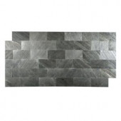 FastStone+ Black Line 3 in. x 6 in. Slate Peel and Stick Wall Tile (5 sq. ft. / pack)-70-048-01-01 207041448