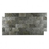 FastStone+ Silver Shine 3 in. x 6 in. Slate Peel and Stick Wall Tile (5 sq. ft. / pack)-70-046-01-01 207041366