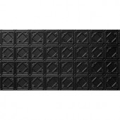 Global Specialty Products 2 ft. x 4 ft. Tin Style Ceiling and Wall Tiles in Black-207-06 205477668