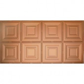Global Specialty Products Dimensions Faux 2 ft. x 4 ft. Tin Style Ceiling and Wall Tiles in Copper-320-01 204592049