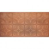 Global Specialty Products Dimensions Faux 2 ft. x 4 ft. Tin Style Ceiling and Wall Tiles in Copper-309-01 204592054