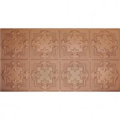 Global Specialty Products Dimensions Faux 2 ft. x 4 ft. Tin Style Ceiling and Wall Tiles in Copper-321-01 204592077