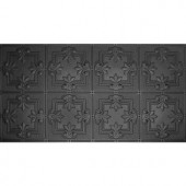 Global Specialty Products Dimensions Faux 24 in. x 48 in. Black Tin Style Ceiling and Wall Tiles-321-06 205148982