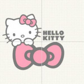 Hello Kitty Easy Classic Cucu Pink Mural 16 in. x 16 in. Ceramic Wall Tile-HKD020502 205184562