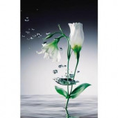 Ideal Decor 69 in. x 0.25 in. Crystal Flowers Wall Mural-DM673 204414713
