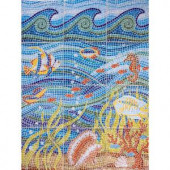 imagine tile Under the Sea 24 in. x 32 in. Ceramic Mural Wall Tile (5.3 sq. ft. / case)-3401ES08 204659818
