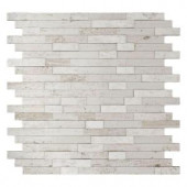 Inoxia SpeedTiles Himalayan 11.75 in. x 11.6 in. Stone Adhesive Wall Tile Backsplash in White (12-Pack)-IS314-2 206694152