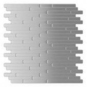 Inoxia SpeedTiles Linox 11.88 in. x 12 in. Self-Adhesive Decorative Wall Tile in Stainless Steel (24-Pack)-ID811-2 206688518