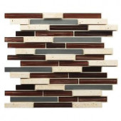 Instant Mosaic 12 in. x 13 in. x 7 mm Peel and Stick Glass/Stone/Metal Mosaic Wall Tile-EKB-06-101 205583516