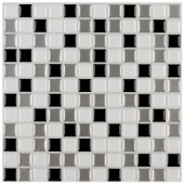 Instant Mosaic 3 in. x 6 in. Peel and Stick Mosaic Decorative Wall Tile Sample in Shades of Gray and White-SAMPLE-07103 207088635