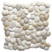 Islander Gray White 12 in. x 12 in. Natural Pebble Stone Floor and Wall Tile (10 sq. ft. / case)-20-1-GRY 205932332