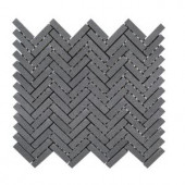 Jeff Lewis Manhattan 10 in. x 11 in. x 8 mm Honed Basalt Mosaic Tile-98472 207174595