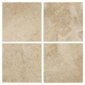 Jeffrey Court Cappuccino 6 in. x 6 in. Marble Floor/Wall Tile (1-Pack/4-Pieces 1 sq. ft.)-99038 202273479