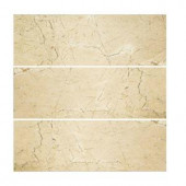 Jeffrey Court Creama 4 in. x 12 in. Polished Marfil Wall Tile (3-Pack)-99789 205110675