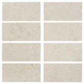 Jeffrey Court Creama 6 in. x 3 in. Honed Marble Floor/Wall Tile (8 pieces / pack)-99091 202273532