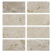 Jeffrey Court Light Travertine 3 in. x 6 in. Travertine Wall Tile (8-Pack)-99101 202309901