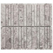 Jeffrey Court Roman Sticks 10.75 in. x 12 in. x10 mm Beige Marble Mosaic Wall Tile-99714 204659685