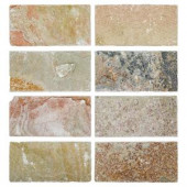 Jeffrey Court Rose Slate 3 in. x 6 in. Stone Floor and Wall Tile-53048 202050765