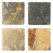 Jeffrey Court Sequoia 6 in. x 6 in. x 8 mm Slate Floor and Wall Tile (4 pieces / pack)-75757 202050762