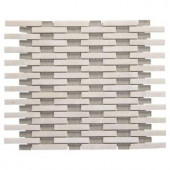 Jeffrey Court Summer Time Array 13.75 in. x 11 in. x 8 mm Glass/White Marble Mosaic Wall Tile-99719 204659616