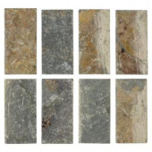 Jeffrey Court Tumbled Slate 3 in. x 6 in. x 8 mm Floor and Wall Slate Tile (8 pieces / pack)-99030 202273471