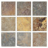 Jeffrey Court Tumbled Slate 4 in. x 4 in. x 8 mm Floor and Wall Slate Tile (9 pieces / pack)-99037 202273478