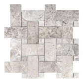 Knight Castle 12-7/8 in. x 12-7/8 in. x 10 mm Stone Mosaic Tile-99380 206822868