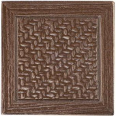 MARAZZI Montagna Bronze 2 in. x 2 in. Metal Resin Basketweave Decorative Floor/Wall Tile-UGAD 100646390