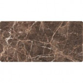 MS International Emperador Dark 3 in. x 6 in. Tumbled Marble Floor and Wall Tile (1 sq. ft. / case)-TEMPDRK36T 206873881