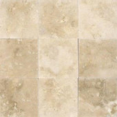 MS International Ivory 4 in. x 4 in. Honed Travertine Floor and Wall Tile (1 sq. ft. / case)-THDW1-T-IVO-4x4 100664294