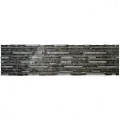 MS International Royal Black Thin Veneer Panel 6 in. x 24 in. Natural Marble Wall Tile (5 sq. ft. / case)-LVENMROYBLA624 204720957